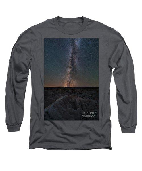 Panorama Point Milky Way Badlands  Long Sleeve T-Shirt