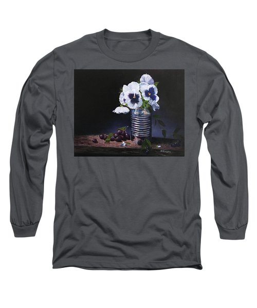 Pansies In A Can Long Sleeve T-Shirt