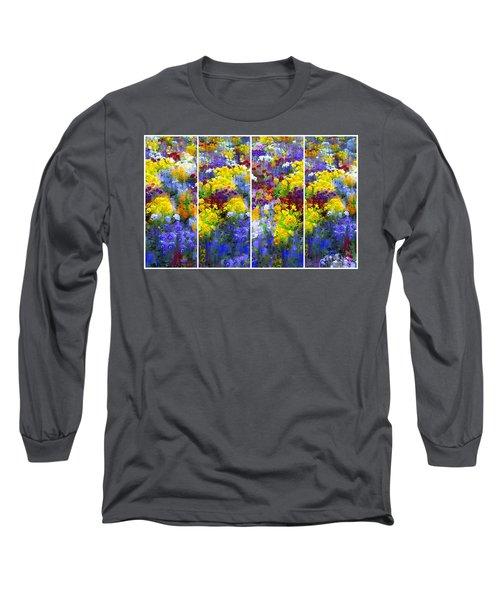 Pansy Panel Long Sleeve T-Shirt