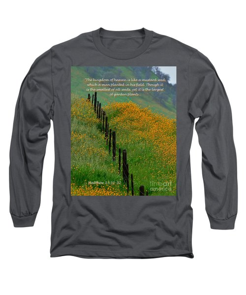 Long Sleeve T-Shirt featuring the photograph Parable Of The Mustard Seed by Debby Pueschel