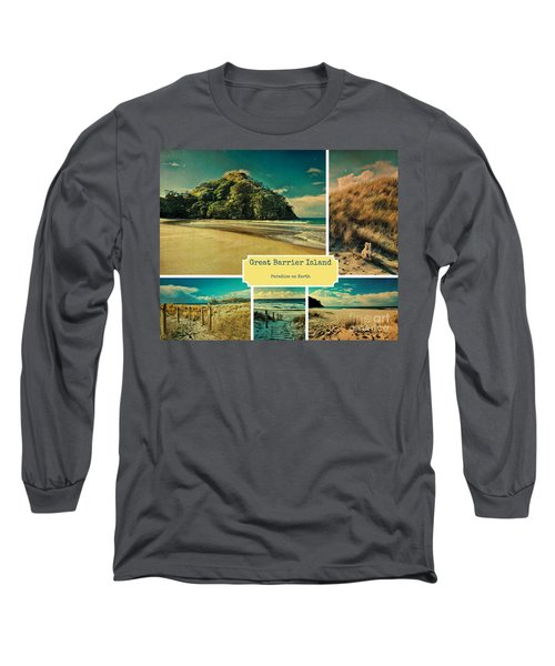 Paradise At The Barrier Long Sleeve T-Shirt by Karen Lewis
