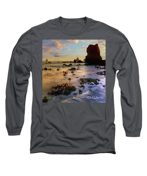 Paradise On Earth Long Sleeve T-Shirt by Tim Fitzharris