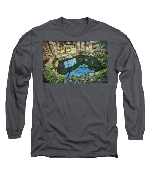 Paradise Springs- Spring House - Kettle Moraine State Forest Long Sleeve T-Shirt by Jennifer Rondinelli Reilly - Fine Art Photography