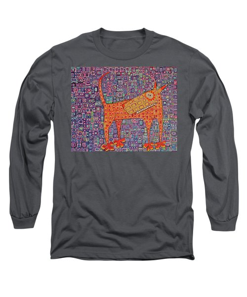 Long Sleeve T-Shirt featuring the painting Paranoid by Donna Howard
