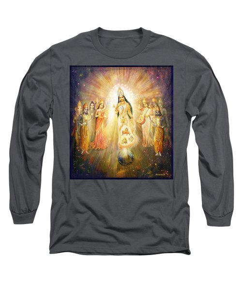 Parashakti Devi - The Great Goddess In Space Long Sleeve T-Shirt