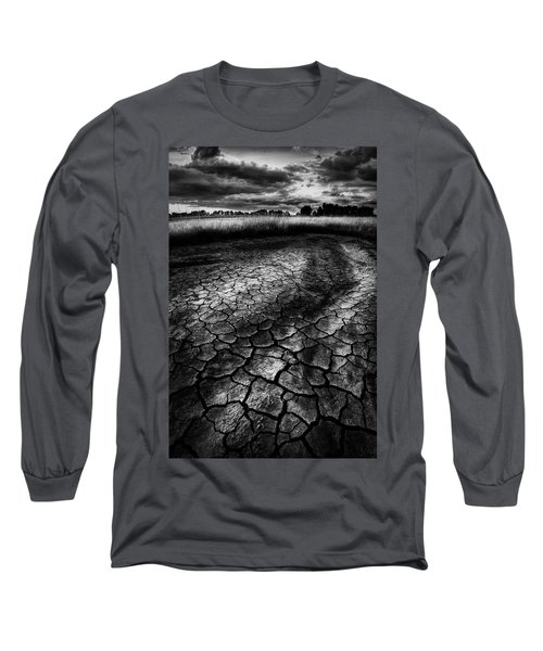 Parched Prairie Long Sleeve T-Shirt by Dan Jurak
