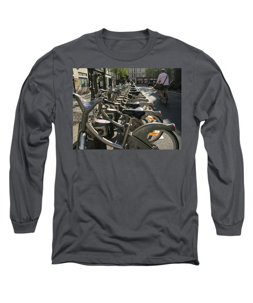 Paris By Bike Long Sleeve T-Shirt by Yoel Koskas