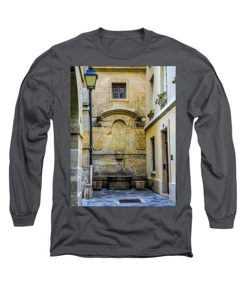 Long Sleeve T-Shirt featuring the photograph Paris Corner Le Marais by Sally Ross