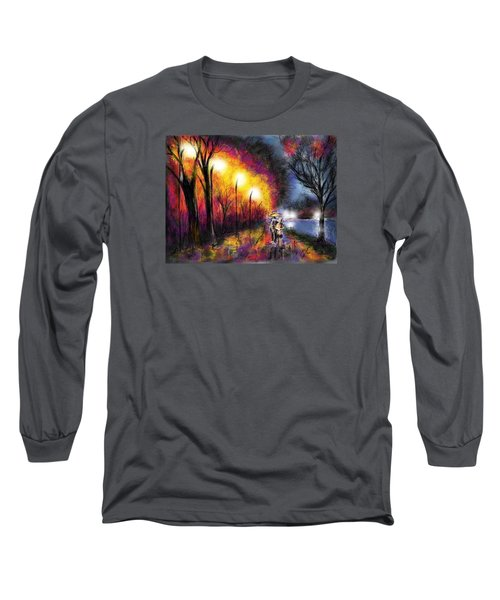 Paris Evening Long Sleeve T-Shirt by Darren Cannell
