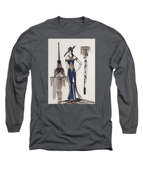 Paris Fashion Long Sleeve T-Shirt