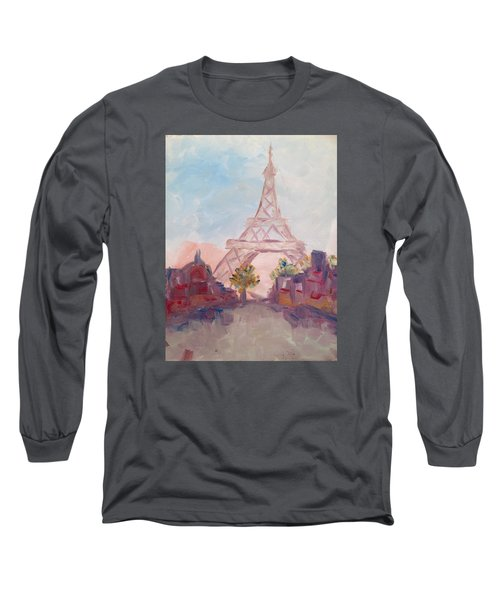 Paris In Pastel Long Sleeve T-Shirt