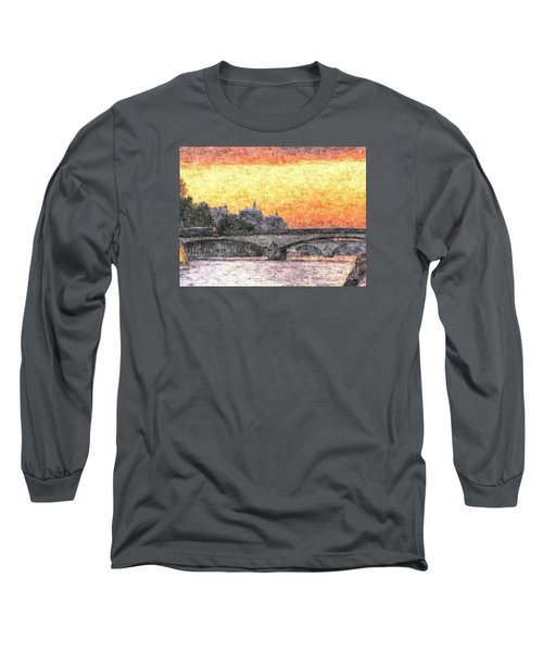 Paris Sunset Long Sleeve T-Shirt