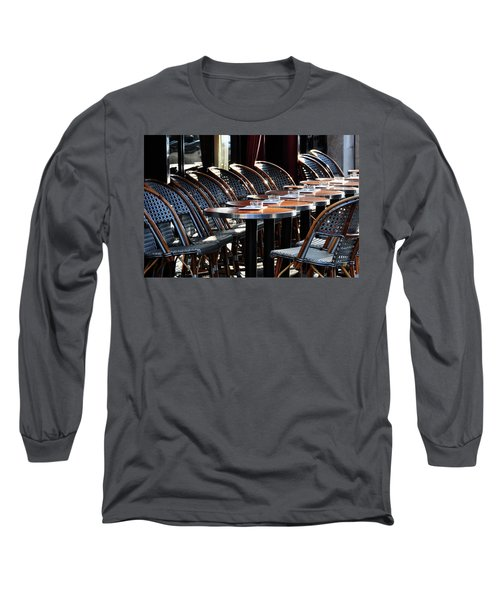 Parisian Cafe Terrace Long Sleeve T-Shirt