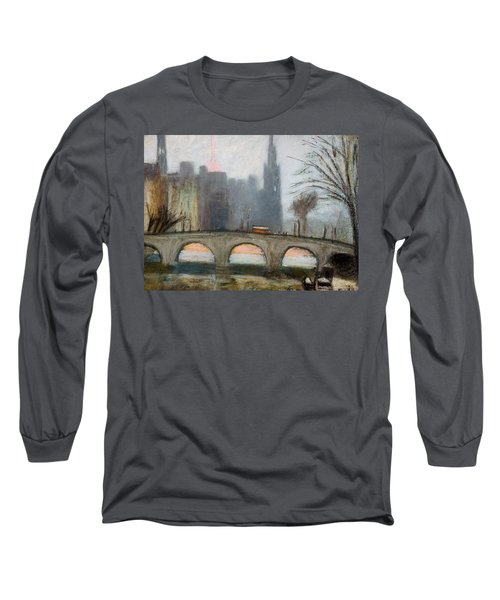 Long Sleeve T-Shirt featuring the painting Parisian Gray by Gary Coleman