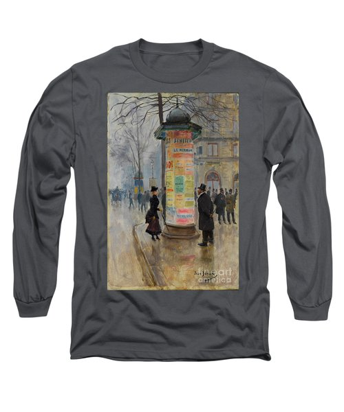Long Sleeve T-Shirt featuring the photograph Parisian Street Scene by John Stephens