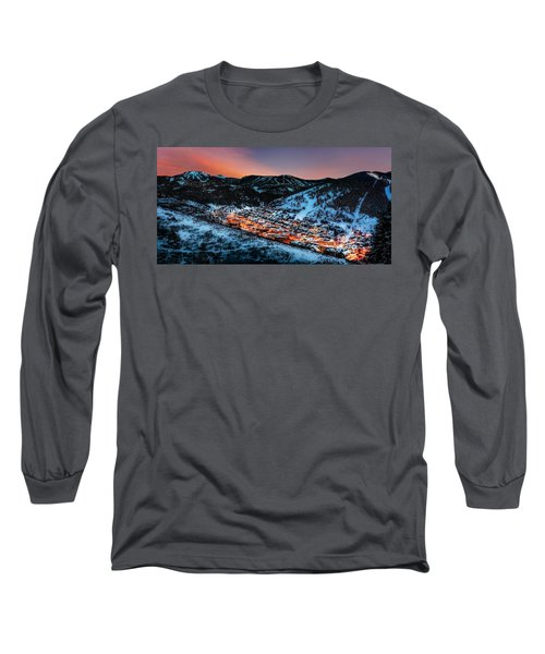 Park City Winter Sunset Long Sleeve T-Shirt