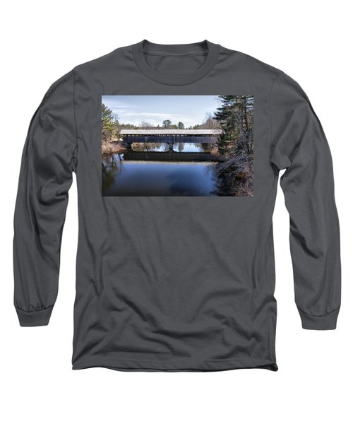 Parsonfield Porter Covered Bridge Long Sleeve T-Shirt by Betty Pauwels