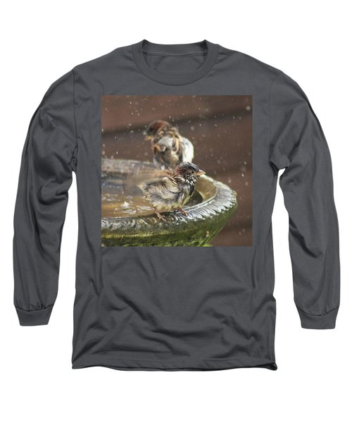 Pass The Towel Please: A House Sparrow Long Sleeve T-Shirt