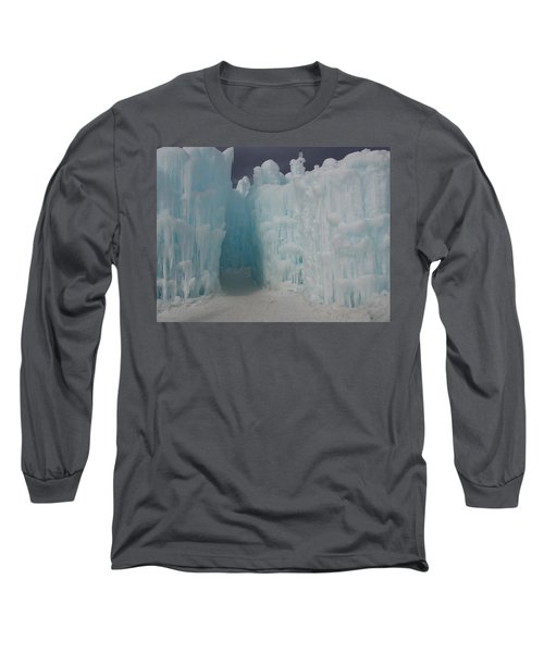Passageway In The Ice Castle Long Sleeve T-Shirt by Catherine Gagne