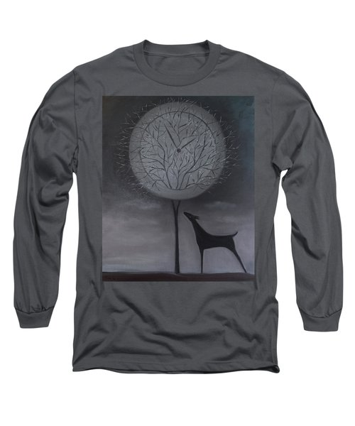 Long Sleeve T-Shirt featuring the painting Passing Time by Tone Aanderaa