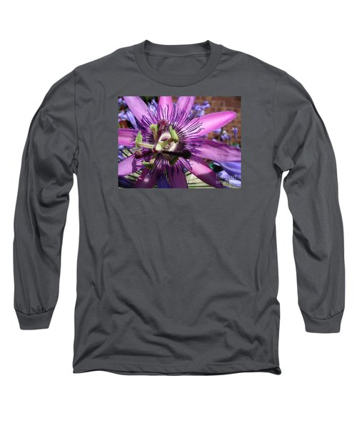 Long Sleeve T-Shirt featuring the photograph Passion Flower by Jolanta Anna Karolska