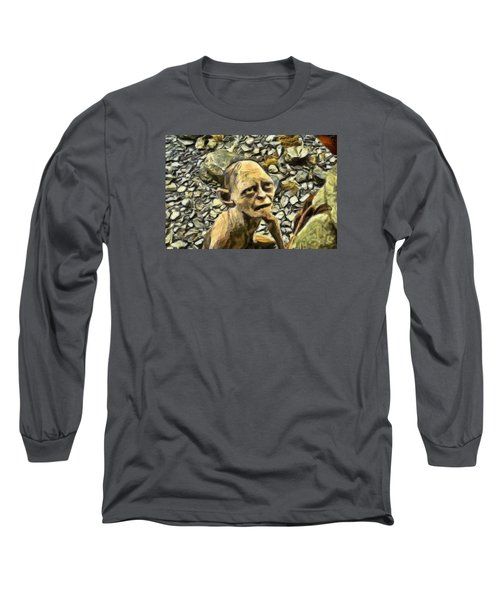 Long Sleeve T-Shirt featuring the digital art Passionate Torture by Mario Carini