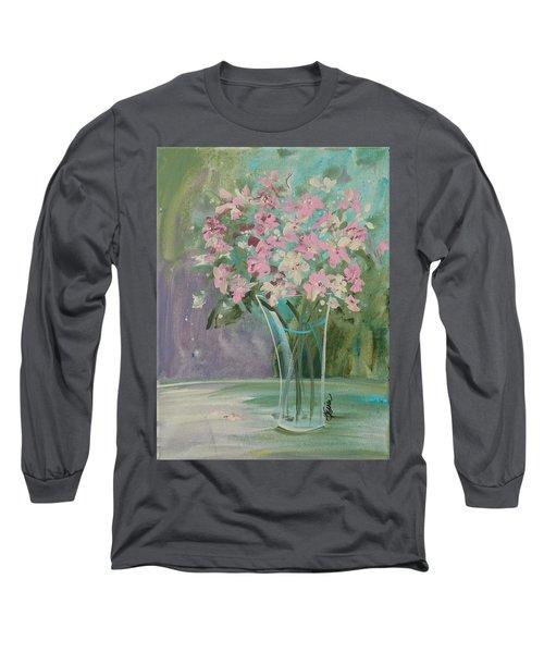 Pastel Blooms Long Sleeve T-Shirt by Terri Einer