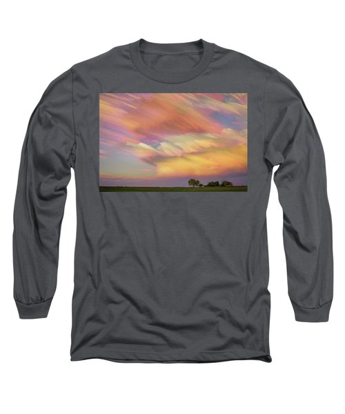 Long Sleeve T-Shirt featuring the photograph Pastel Painted Big Country Sky by James BO Insogna