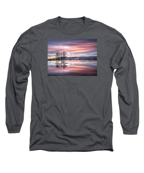 Pastel Sunrise Long Sleeve T-Shirt by Fiskr Larsen