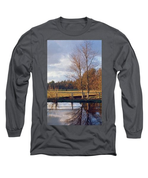 Long Sleeve T-Shirt featuring the photograph Pasture Pond by Laurie Stewart