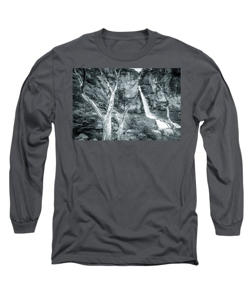 Patagonian Waterfall Long Sleeve T-Shirt by Andrew Matwijec