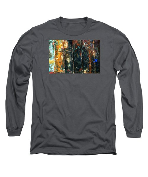 Patchworks 5 Long Sleeve T-Shirt by Newel Hunter