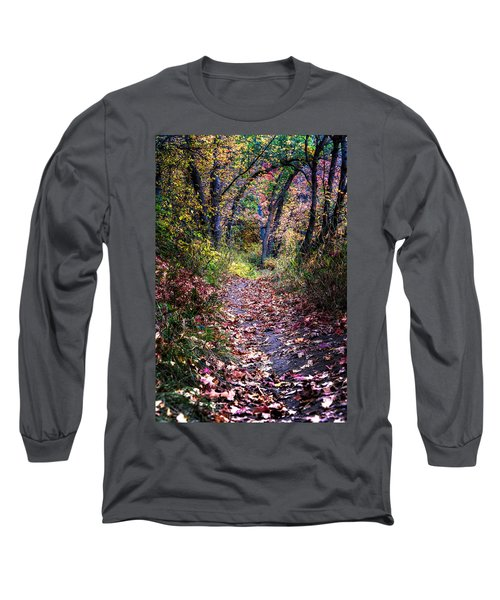 Path Of Leaves Long Sleeve T-Shirt