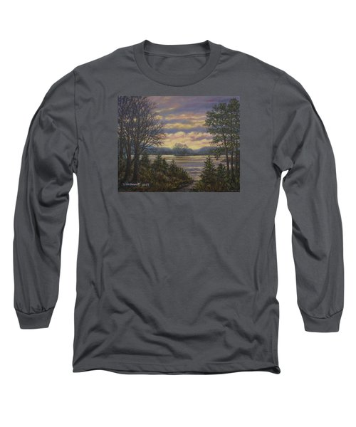 Path To The River Long Sleeve T-Shirt by Kathleen McDermott