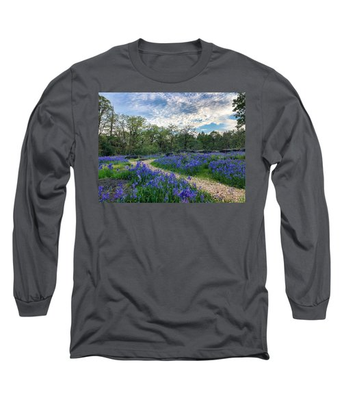 Pathway Through The Flowers Long Sleeve T-Shirt