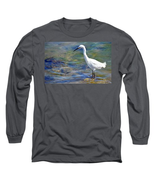 Patient Egret Long Sleeve T-Shirt