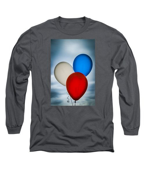 Long Sleeve T-Shirt featuring the photograph Patriotic Balloons by Carolyn Marshall