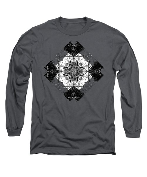 Pattern In Black White Long Sleeve T-Shirt