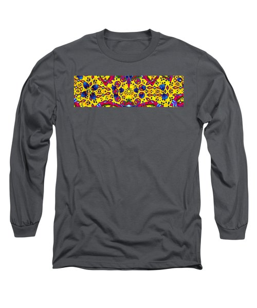 Pattern Intersect Long Sleeve T-Shirt by Ron Bissett