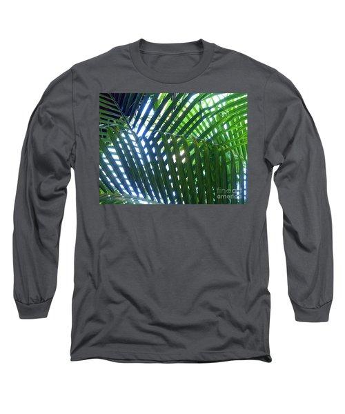 Patterned Palms Long Sleeve T-Shirt