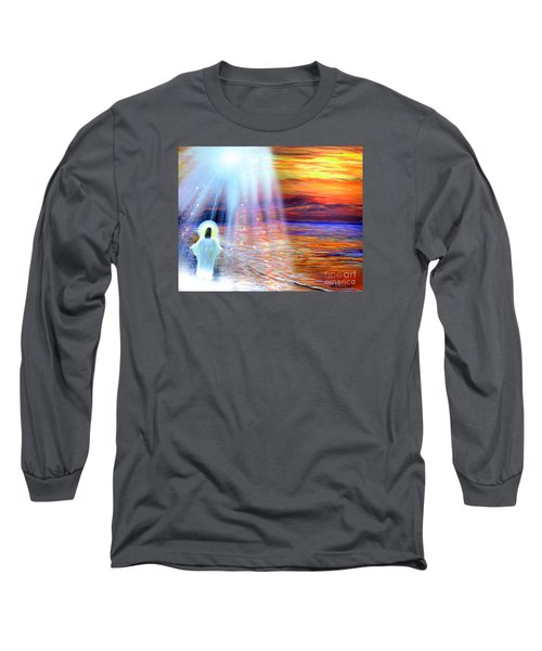 Peace Be With You Long Sleeve T-Shirt by Patricia L Davidson