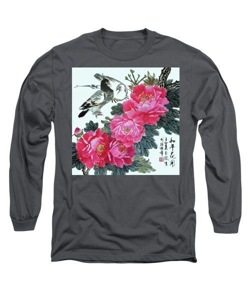 Peace Flowers Long Sleeve T-Shirt