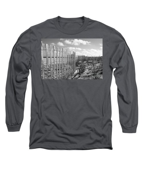Long Sleeve T-Shirt featuring the photograph Peaceful Beach Scene by Denise Pohl