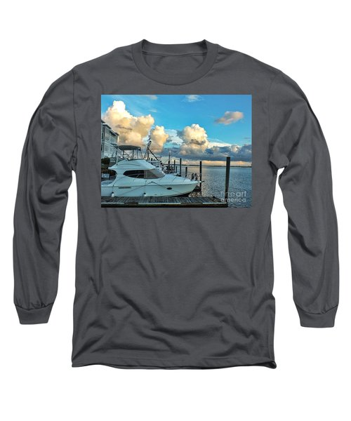 Peaceful Evening Walk  Long Sleeve T-Shirt by Christy Ricafrente
