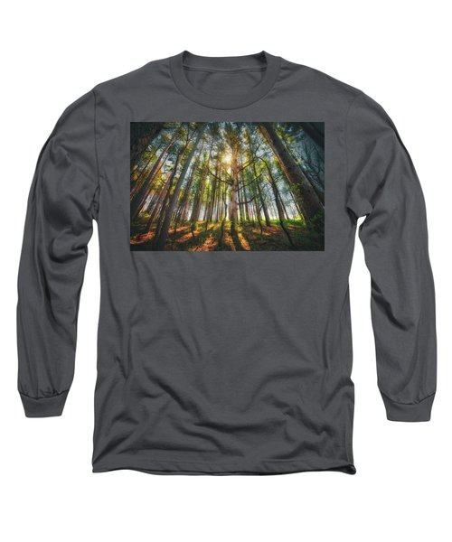Peaceful Forest 5 - Spring At Retzer Nature Center Long Sleeve T-Shirt by Jennifer Rondinelli Reilly - Fine Art Photography