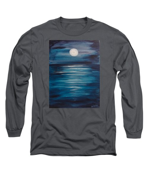 Peaceful Moon At Sea Long Sleeve T-Shirt