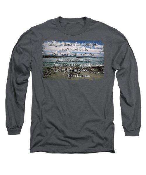 Peaceful Pacific Beach Long Sleeve T-Shirt