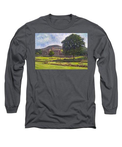 Peaceful Retreat - Melrose Abbey  Long Sleeve T-Shirt