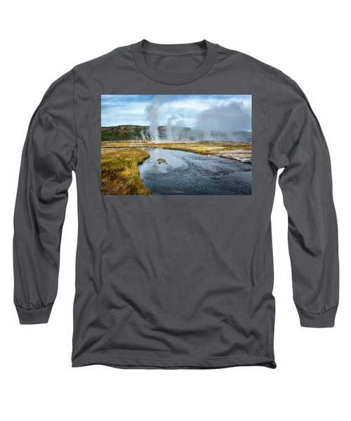 Long Sleeve T-Shirt featuring the photograph Peaceful River by Scott Read