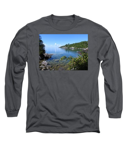 Long Sleeve T-Shirt featuring the photograph Peaceful Tranquilty_ Surrounded By Danger by Janice Adomeit